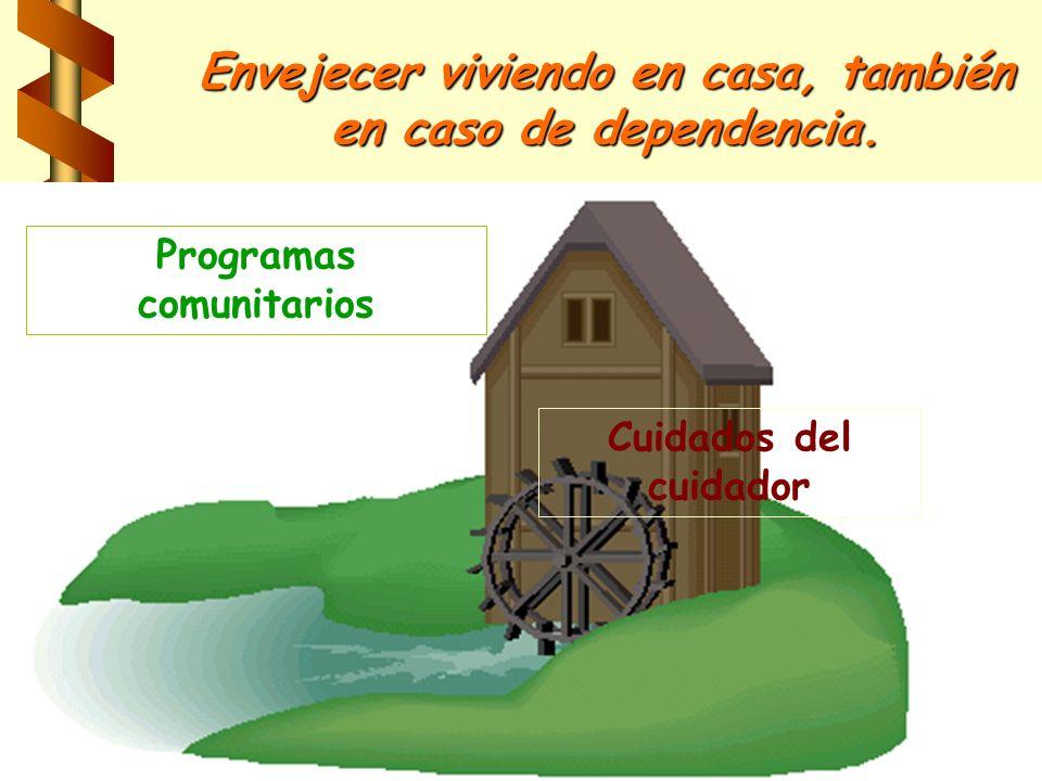 Envejecer viviendo en casa, también en caso de dependencia.
