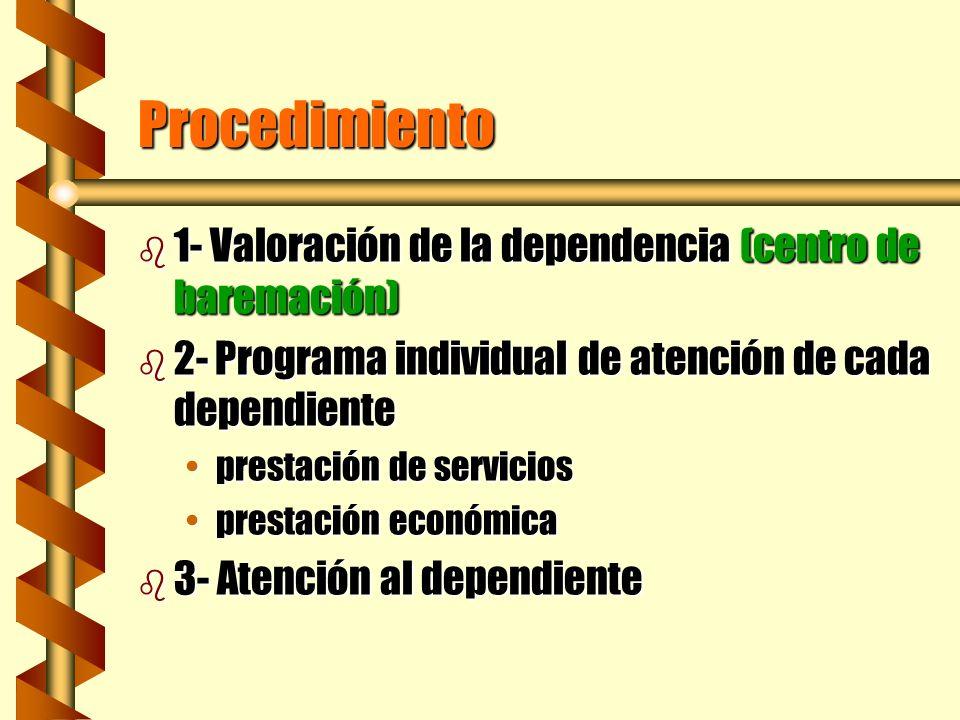 Procedimiento 1- Valoración de la dependencia (centro de baremación)
