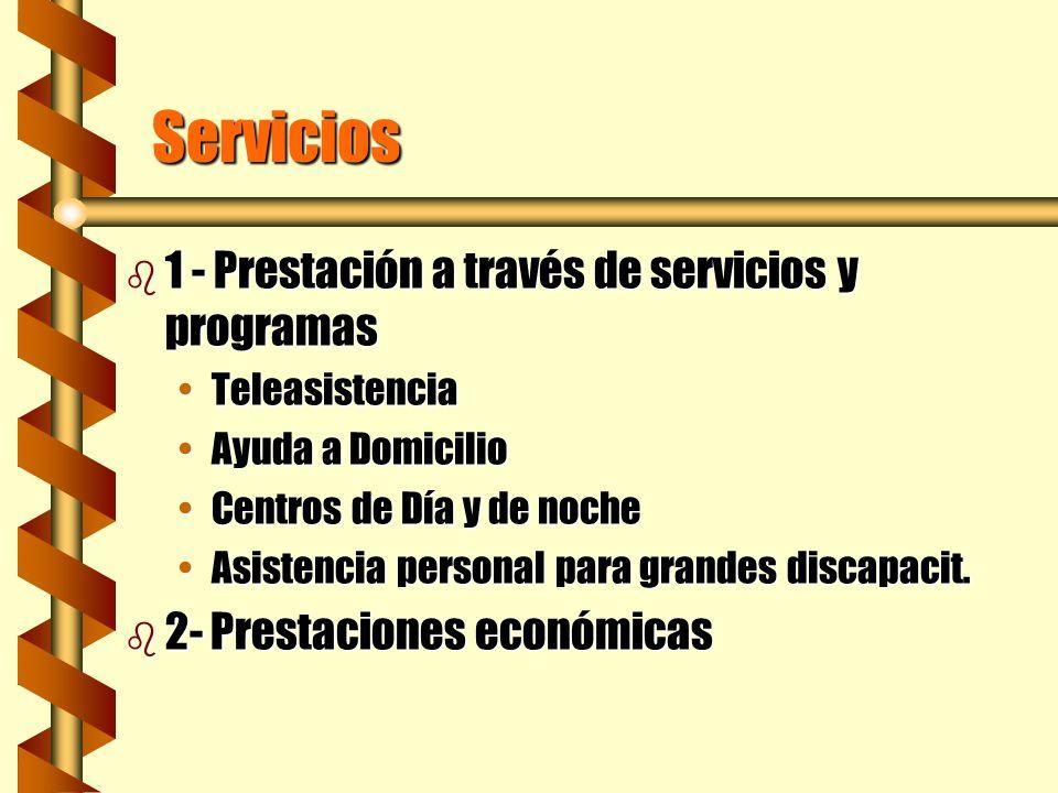 Servicios 1 - Prestación a través de servicios y programas
