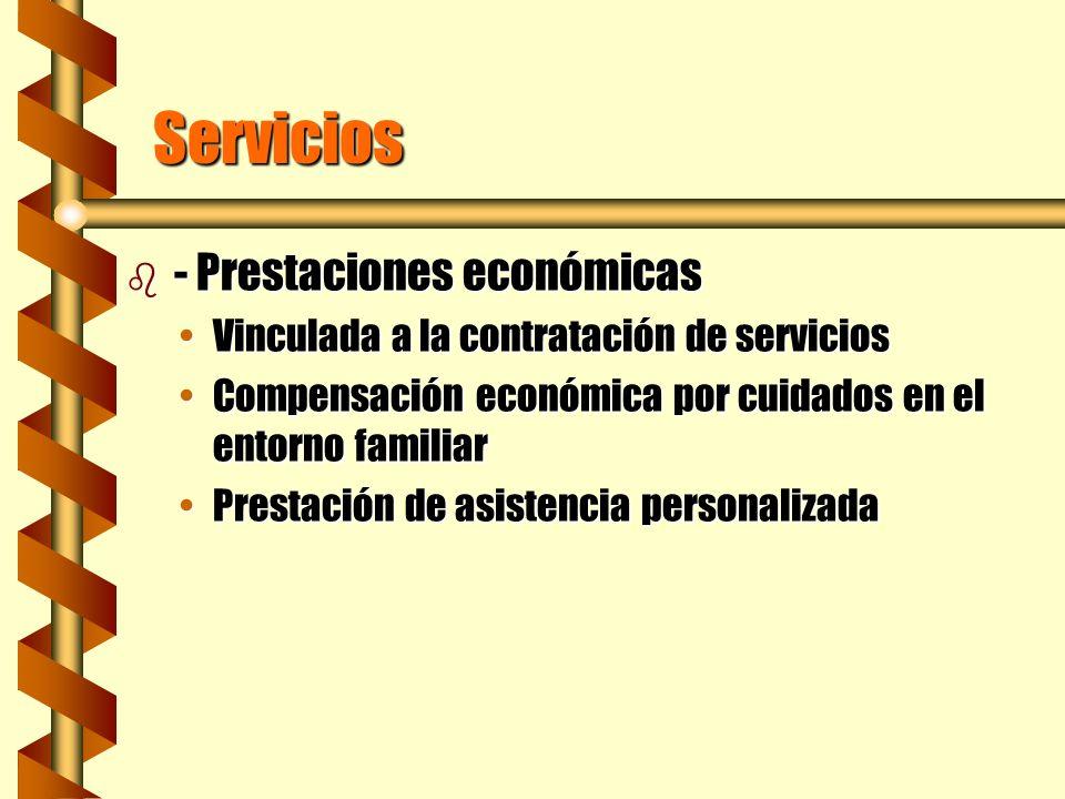 Servicios - Prestaciones económicas