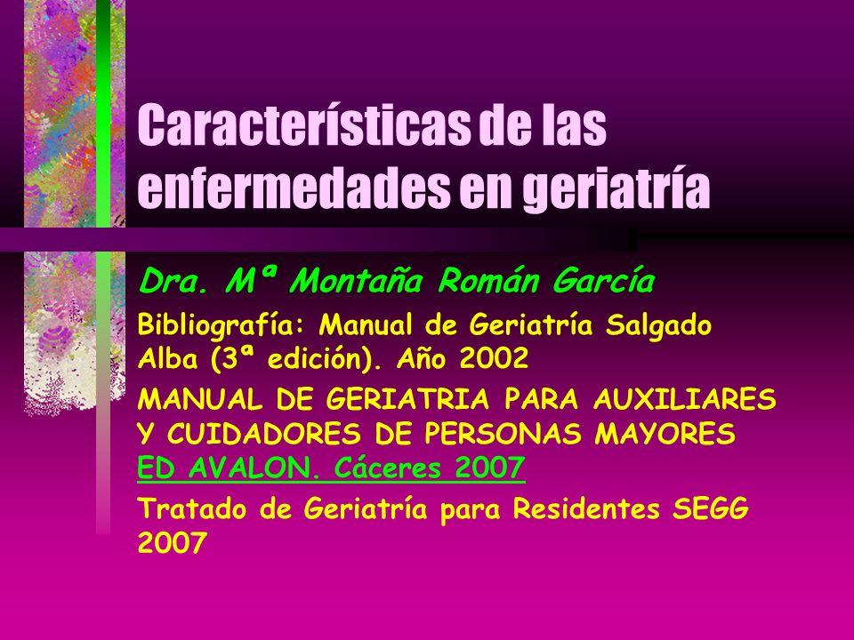 Características de las enfermedades en geriatría