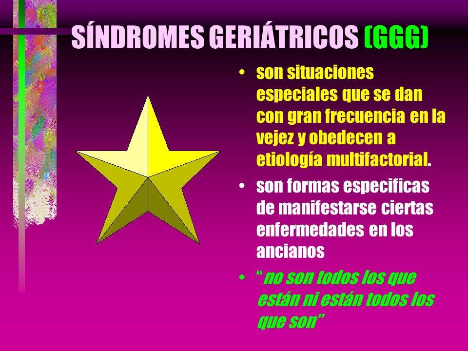 SÍNDROMES GERIÁTRICOS (GGG)