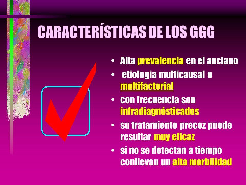 CARACTERÍSTICAS DE LOS GGG