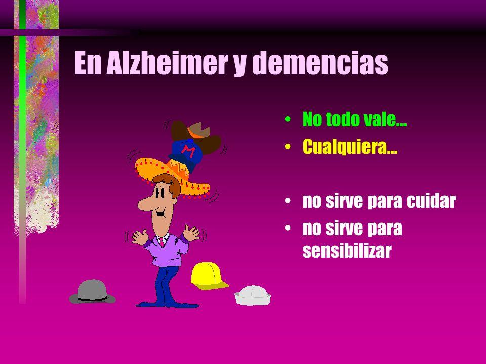 En Alzheimer y demencias