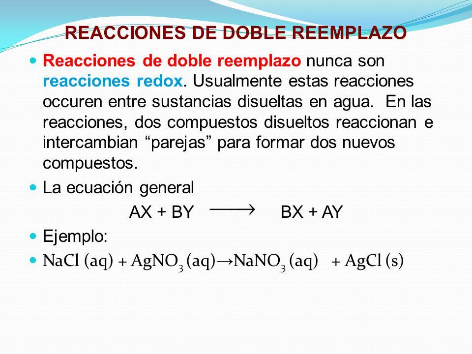 REACCIONES DE DOBLE REEMPLAZO