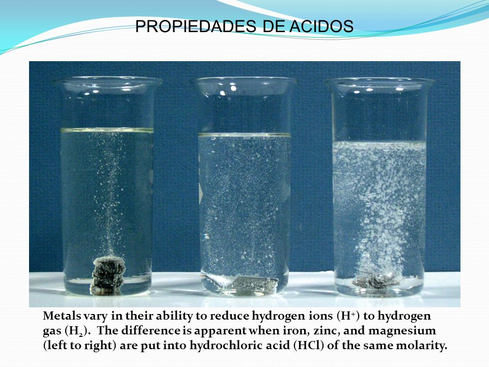 PROPIEDADES DE ACIDOS