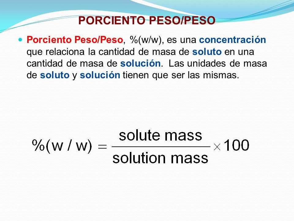 PORCIENTO PESO/PESO