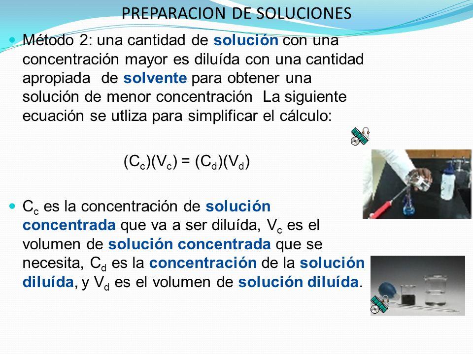 PREPARACION DE SOLUCIONES