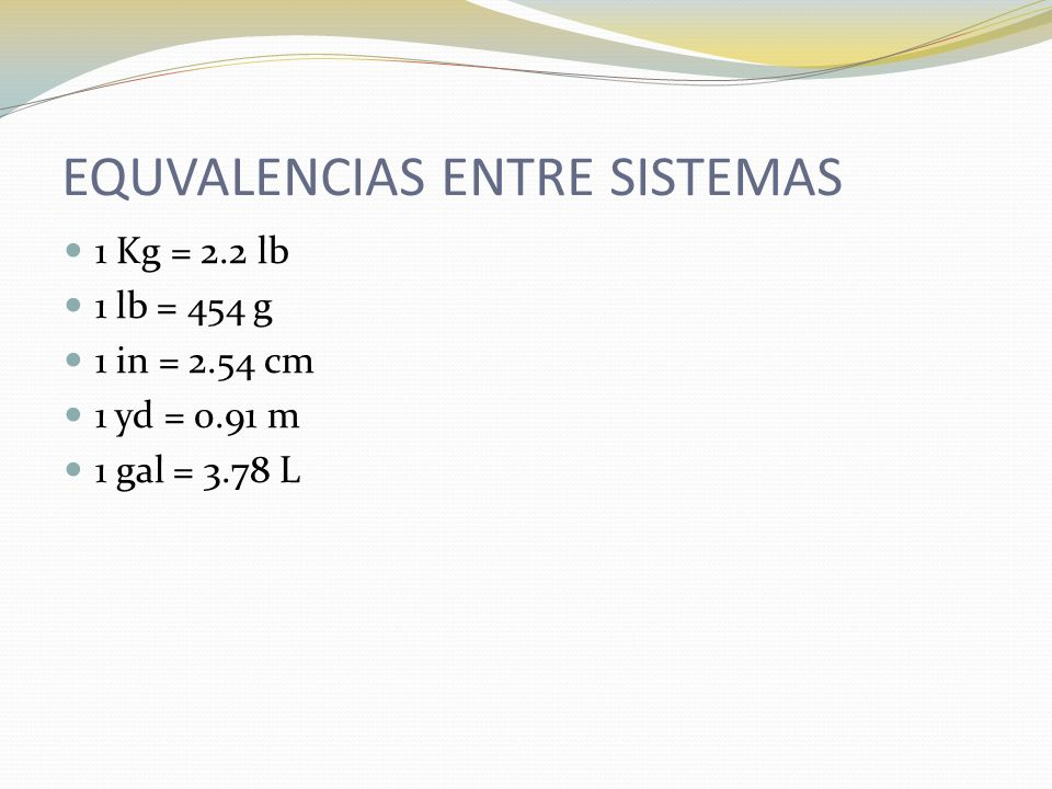 EQUVALENCIAS ENTRE SISTEMAS