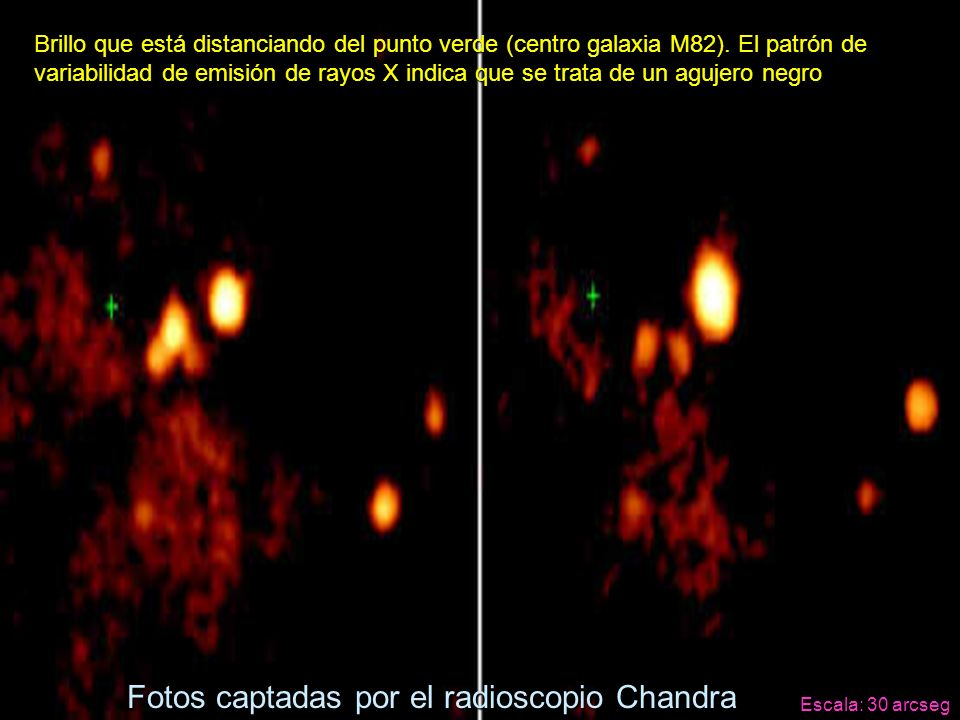 Fotos captadas por el radioscopio Chandra