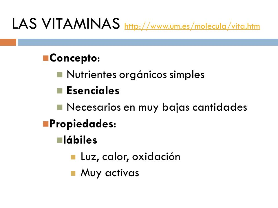 LAS VITAMINAS http://www.um.es/molecula/vita.htm