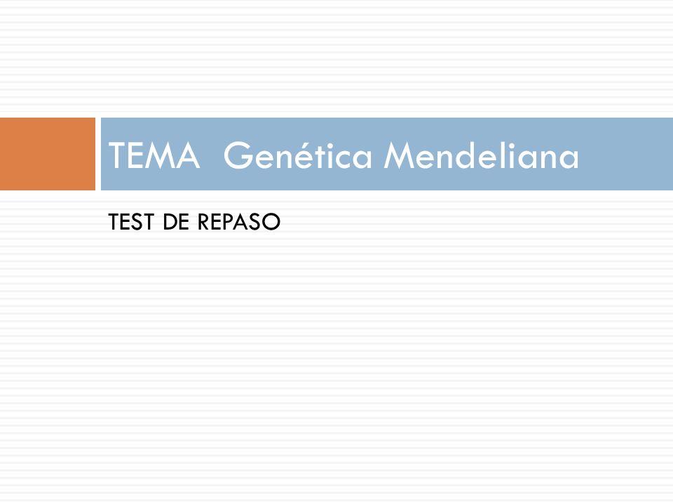 TEMA Genética Mendeliana