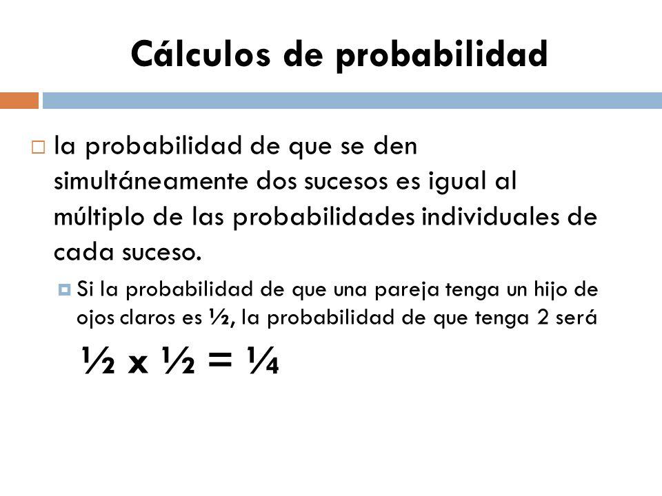 Cálculos de probabilidad