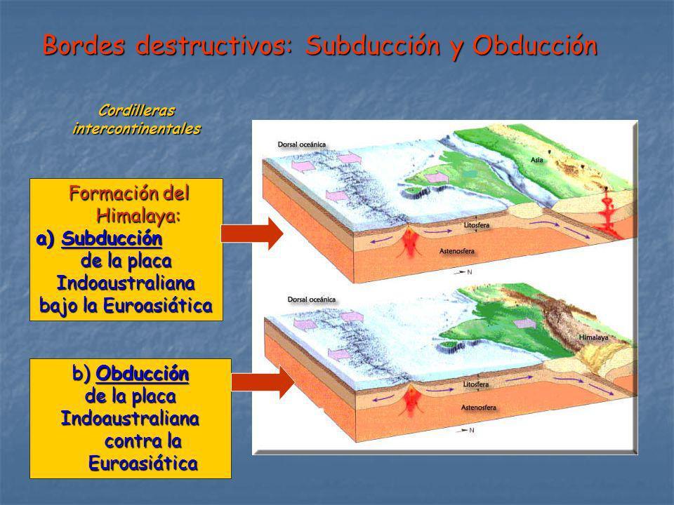 Bordes destructivos: Subducción y Obducción