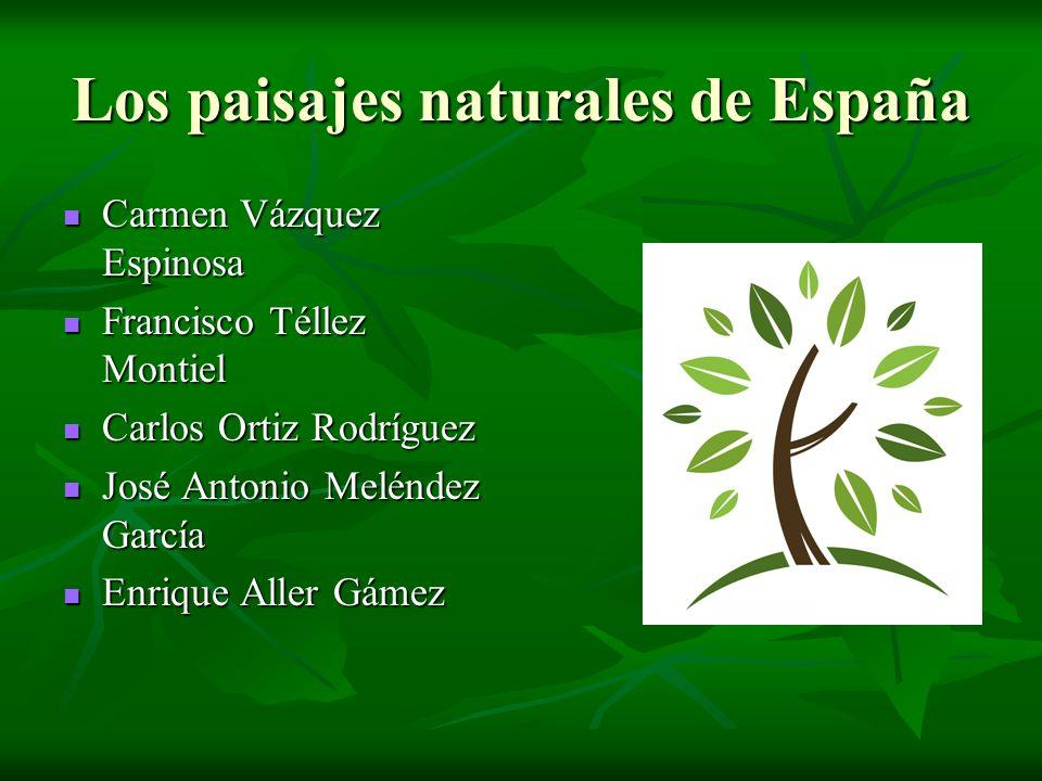Los paisajes naturales de España