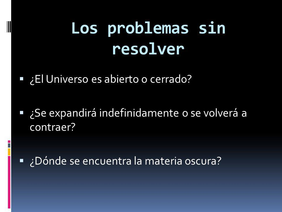 Los problemas sin resolver
