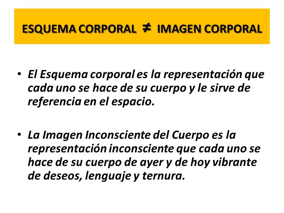 ESQUEMA CORPORAL ≠ IMAGEN CORPORAL