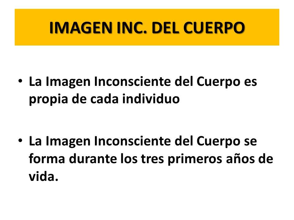 IMAGEN INC. DEL CUERPOLa Imagen Inconsciente del Cuerpo es propia de cada individuo.