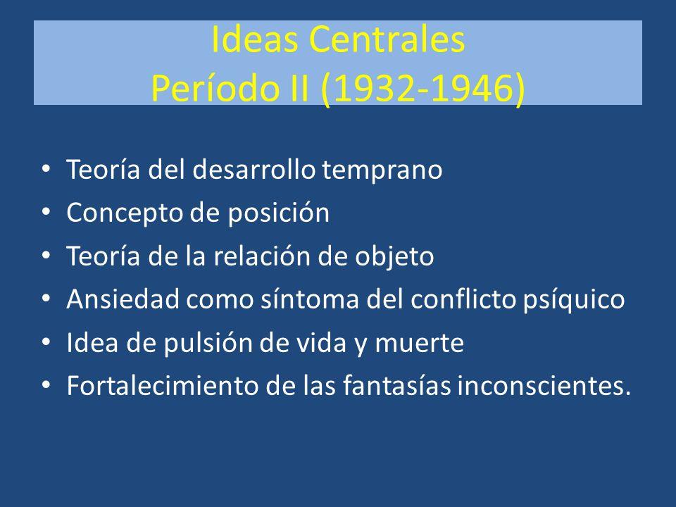 Ideas Centrales Período II (1932-1946)