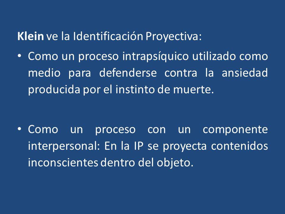 Klein ve la Identificación Proyectiva: