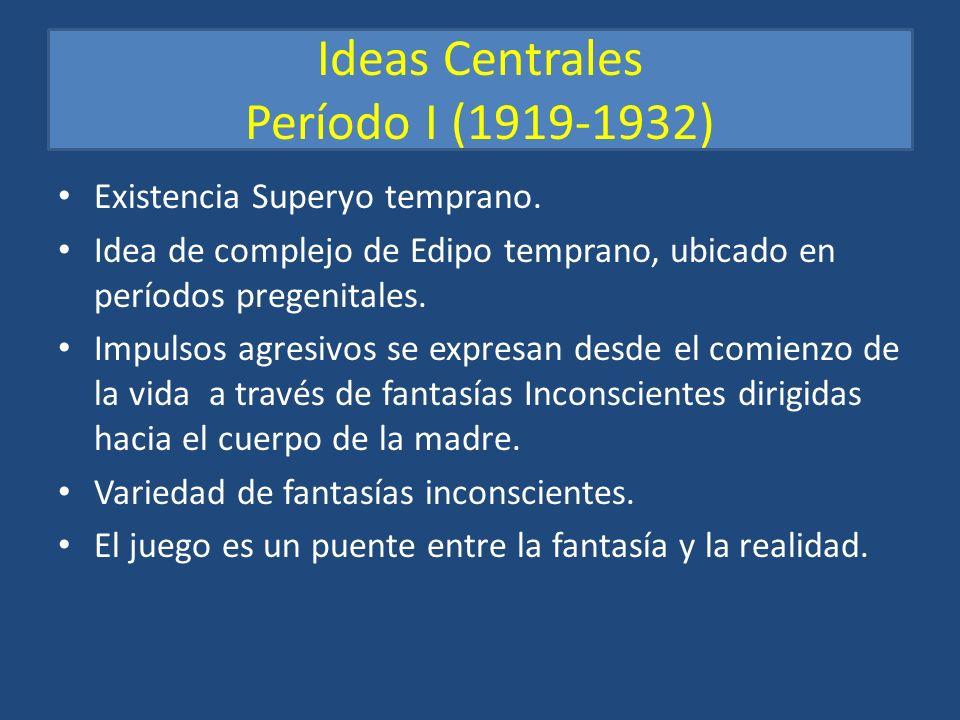 Ideas Centrales Período I (1919-1932)