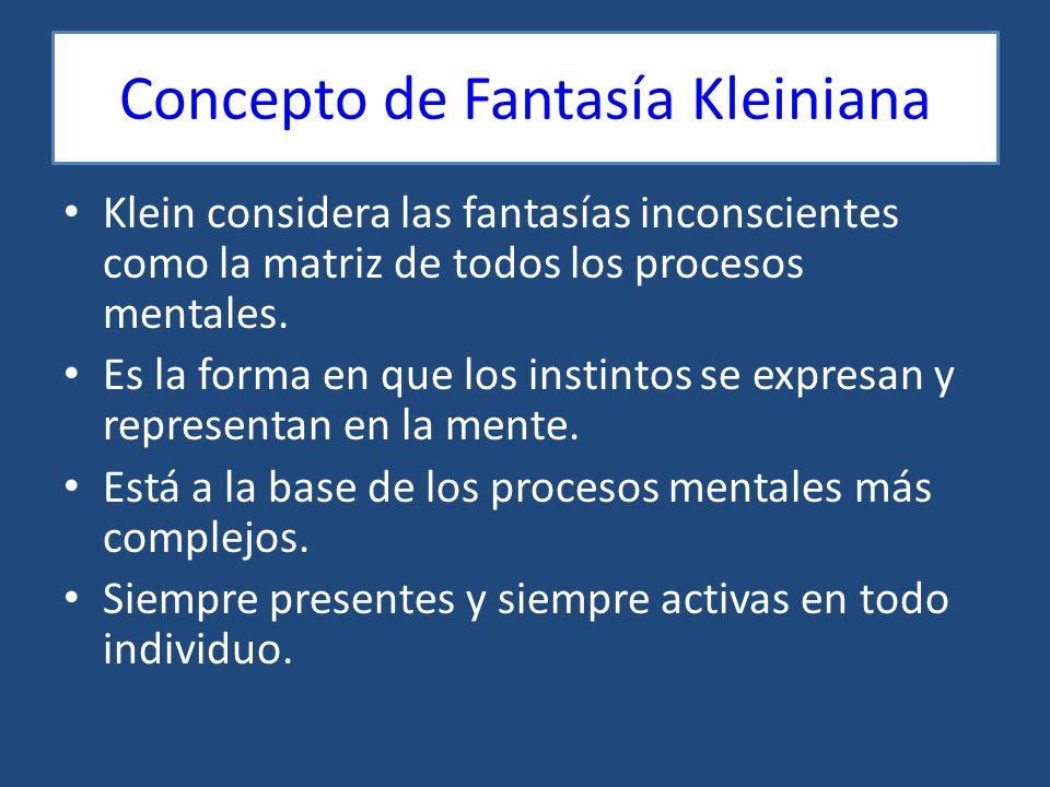Concepto de Fantasía Kleiniana