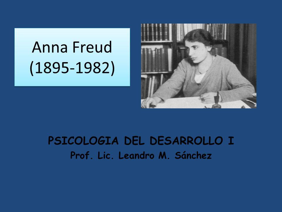 PSICOLOGIA DEL DESARROLLO I Prof. Lic. Leandro M. Sánchez