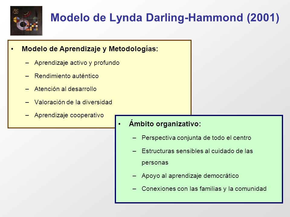 Modelo de Lynda Darling-Hammond (2001)