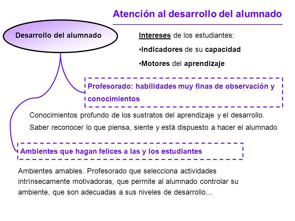 Desarrollo del alumnado