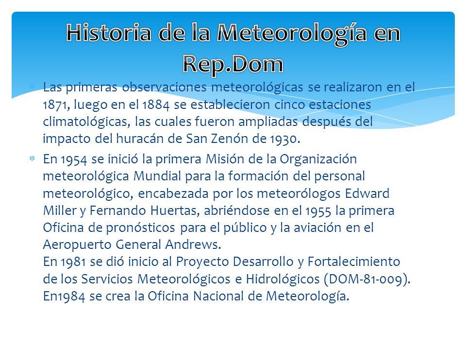 Historia de la Meteorología en Rep.Dom