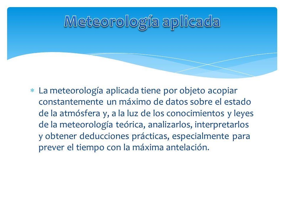 Meteorología aplicada