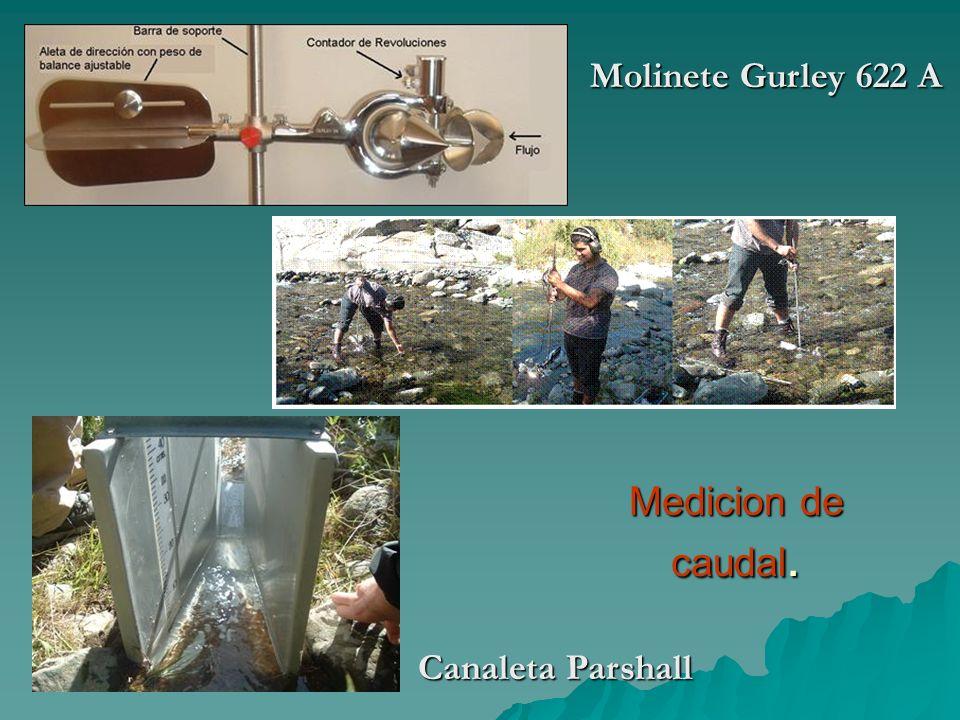 Molinete Gurley 622 A Medicion de caudal. Canaleta Parshall
