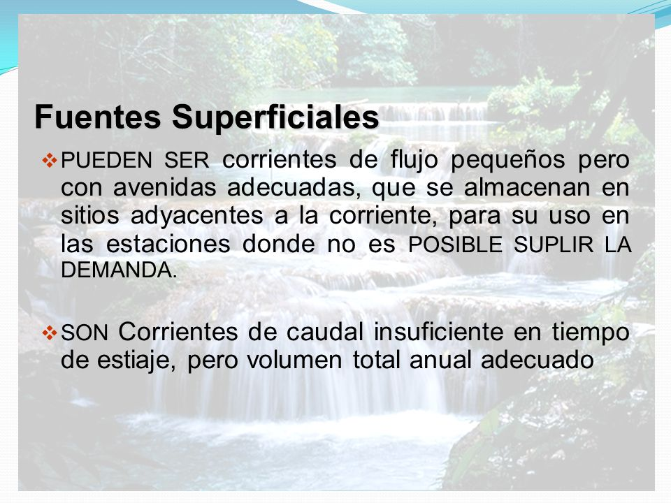 Fuentes Superficiales