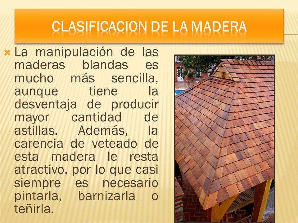 Clasificacion De La Madera