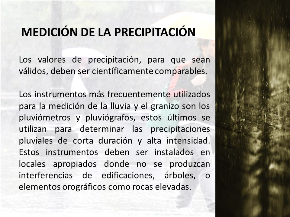 MEDICIÓN DE LA PRECIPITACIÓN