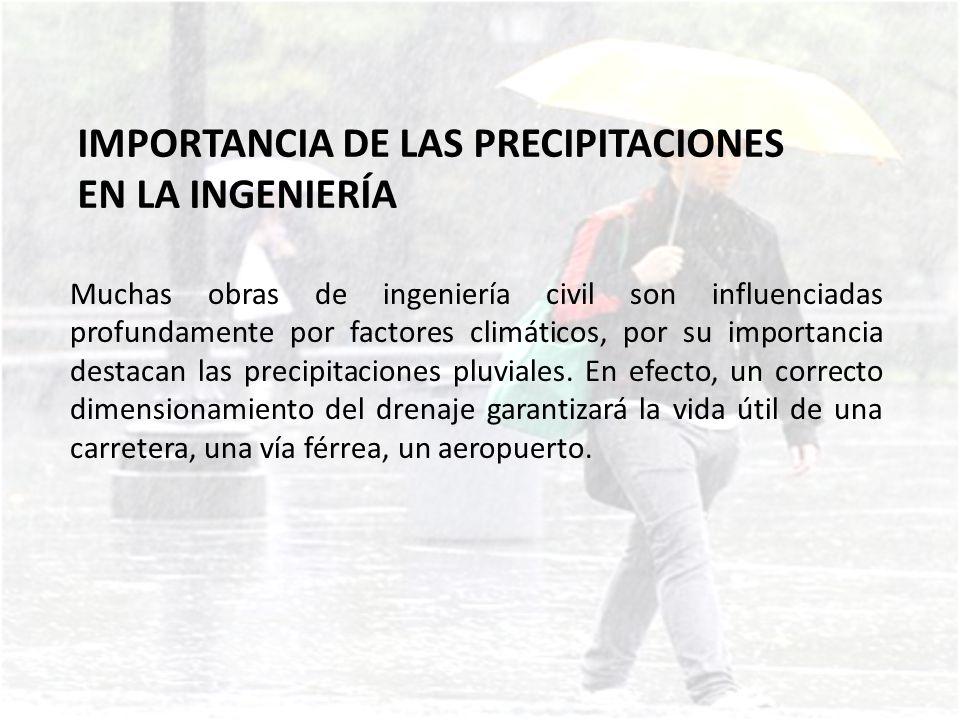 IMPORTANCIA DE LAS PRECIPITACIONES EN LA INGENIERÍA