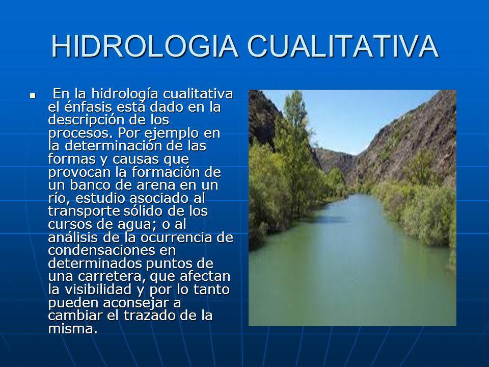 HIDROLOGIA CUALITATIVA