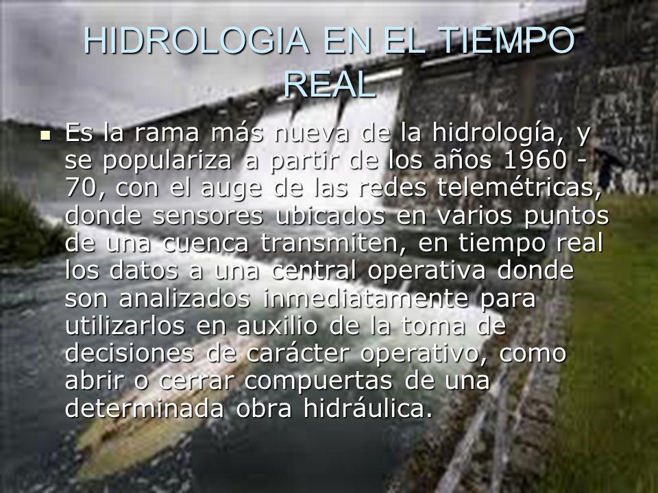 HIDROLOGIA EN EL TIEMPO REAL