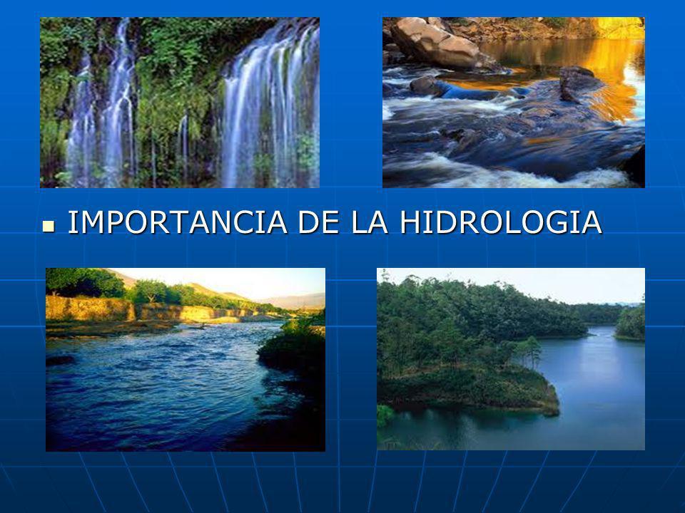 IMPORTANCIA DE LA HIDROLOGIA