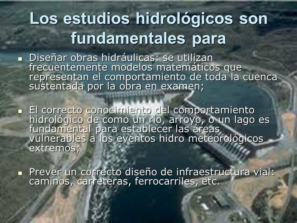 Los estudios hidrológicos son fundamentales para