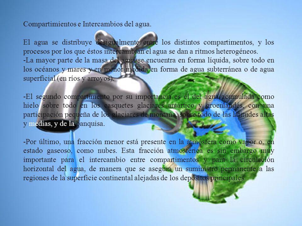 Compartimientos e Intercambios del agua.