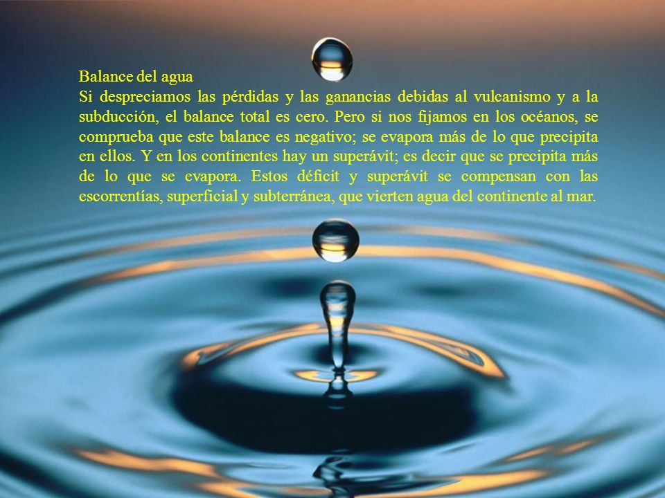 Balance del agua