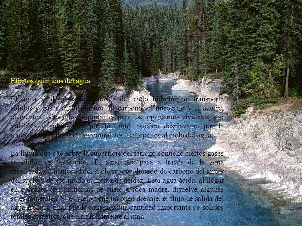 Efectos químicos del agua