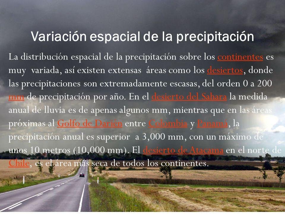 Variación espacial de la precipitación