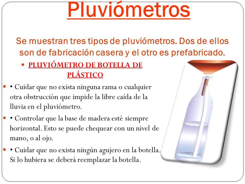 PLUVIÓMETRO DE BOTELLA DE PLÁSTICO
