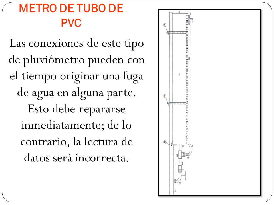METRO DE TUBO DE PVC