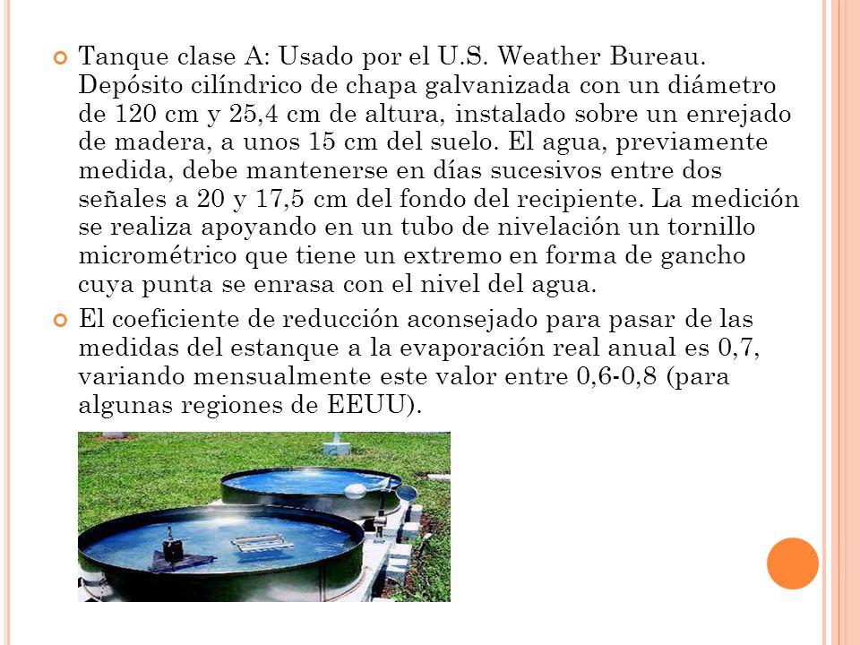 Tanque clase A: Usado por el U. S. Weather Bureau