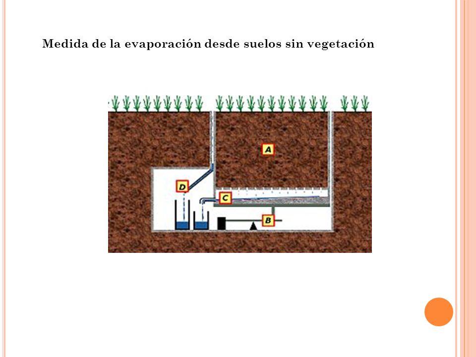 Medida de la evaporación desde suelos sin vegetación
