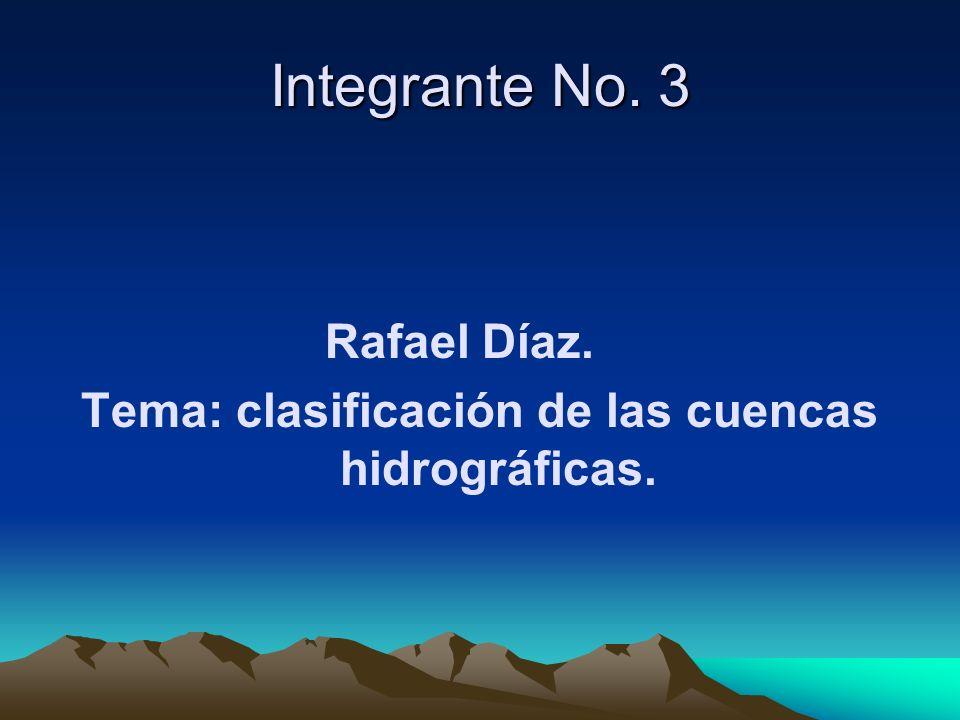 Tema: clasificación de las cuencas hidrográficas.
