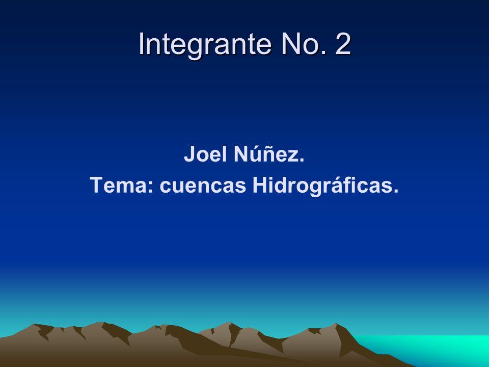 Tema: cuencas Hidrográficas.